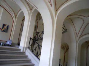 Das barocke Treppenhaus im Westflügel