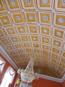 Der Bildersaal mit seinem illusionistisch gemalten Tonnengewölbe