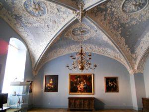 Der blaue Saal. Er erhielt seine heutige Farbfassung im 18. Jahrhundert.