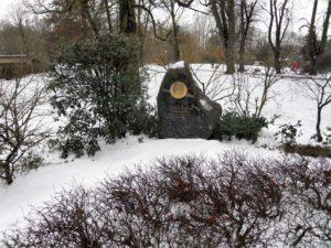 Zu Ehren des Zoologen/Mikrologen/Geologen/.... Christian Gottfried Ehrenberg (1795-1876) wurde dieser Gedenkstein errichtet. Ehrenberg wurde in Delitzsch geboren.