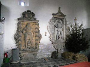 Zwei Epitaphien der letzten Ritter von Kratzsch aus dem 17. Jahrhundert