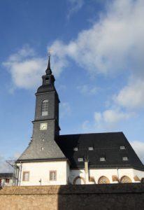 Die spätgotische Kloster-/Schlosskirche wurde um 1500 erbaut.