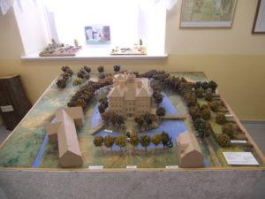 Ein Modell des Schlosses um 1813 (Maßstab 1:100)