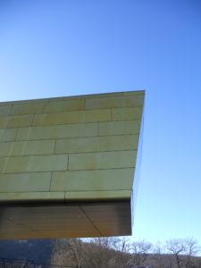 In Richtung Norden ist die Arche in direkter Linie auf den Aussichtsturm ausgerichtet.