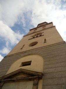 Stadtkirche St. Nikolai, im 12. Jahrhundert erbaut, 1809 Wiederaufbau des Turmes