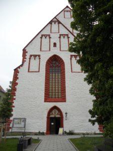 Stadtkirche St. Marien, um 1350 erbaut als Klosterkirche der Dominikanerinnen, 1633 bei Stadtbrand zerstört, 1645-1648 wieder aufgebaut
