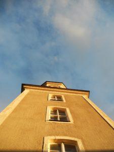 Hospitalkirche, 1578/79 errichtet, 1756 Vergrößerung der Kirche und Neubau des Turmes, 1992/93 umfassende Sanierung