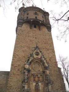 ehemalige Kirche St. Sixti in der Mitte des 13. Jahrhunderts erbaut 1888/89 Umwandlung des Kirchturmes in einen Wasserturm