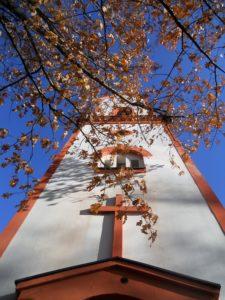 Genezarethkirche Paunsdorf, 1784 errichtet, 1875 Turm errichtet