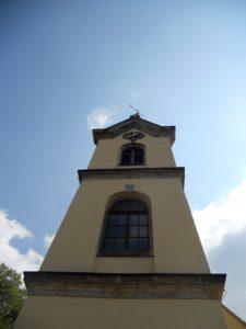 Nikolaikirche 1747 erbaut 1886 Turmbau