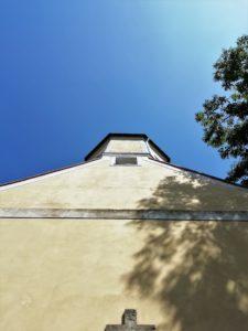 Pfarrkirche, 1722 teilweiser Abriss des Vorgängerbaus und Neubau