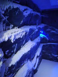 Die Eiskammer im Saunabereich