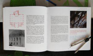 Das aufgeklappte Buch mit dem Beitrag über die Stadtkirche in Lauta