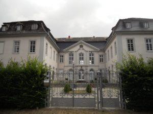 Das Barockschloss von der Hofseite aus gesehen